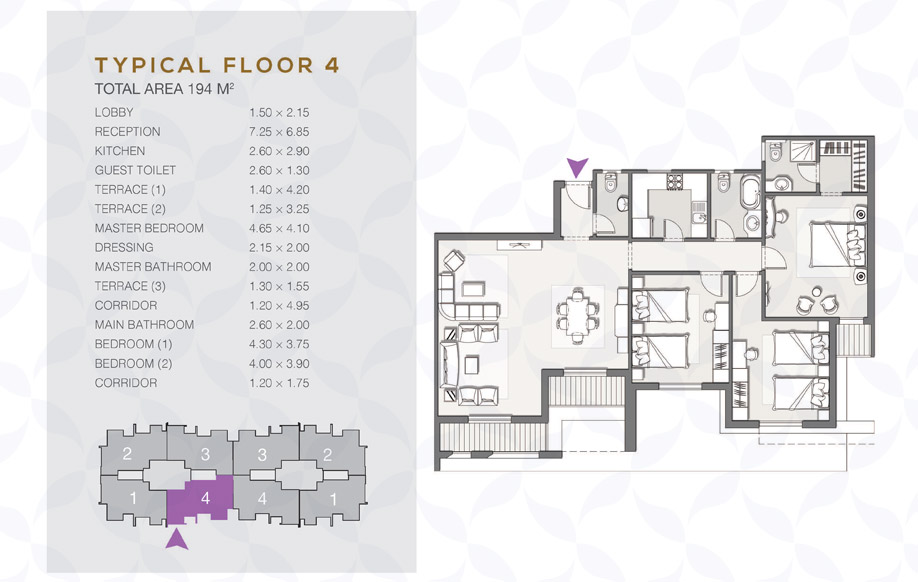Type B - Typical Floor - 04 II