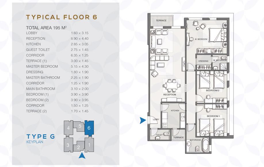 Type G - Typical Floor - 06