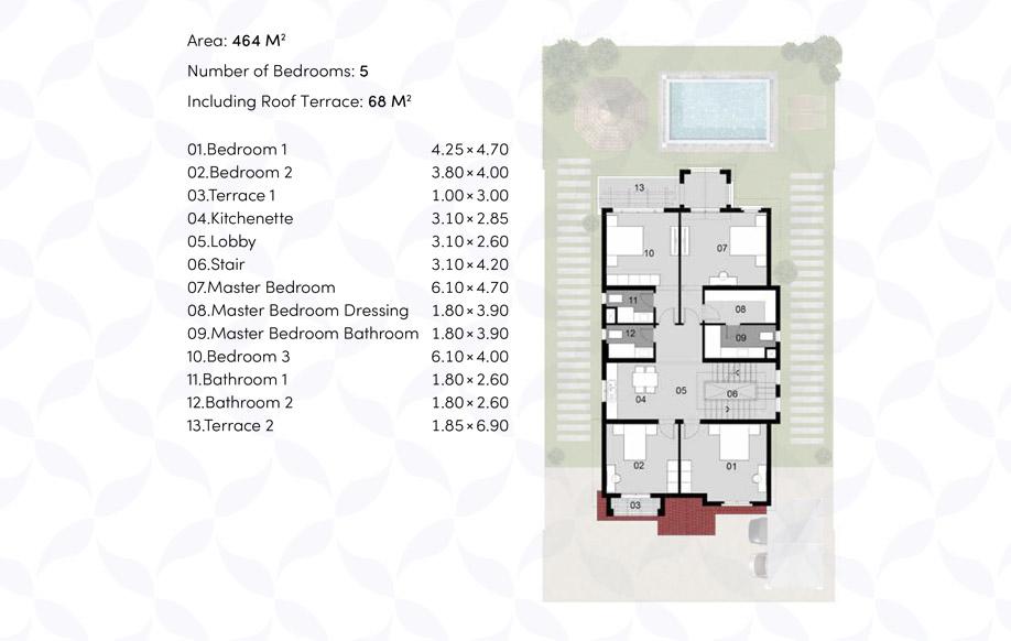 VILLA ' A ' - First floor