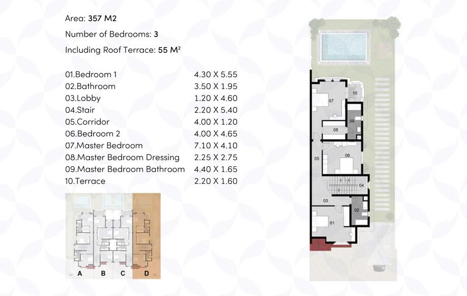 Town House '4' Corner - First Floor
