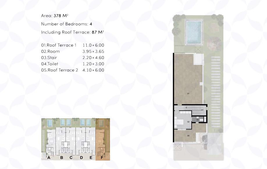 Town House '6' Corner - Penthouse